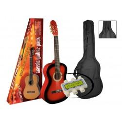 A.martinez gitaar klassiek 80PR red sunburst met hoes en stemfluitje