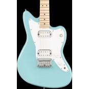 Squier Mini Jazzmaster HH Maple Neck Daphne Blue