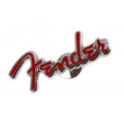 Fender pin logo red