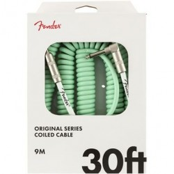 Fender Original Series Coil Cable, Straight-Angle, 30', Surf Green
