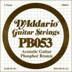 D'Addario losse snaar Phosphor Bronze  053