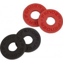 Fender Strap Blocks 4-Pack, Black Red