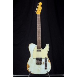 Fender Custom Shop 63 Double Bound Telecaster Heavy Relic Sonic Blue
