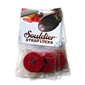Souldier Rubber Strap Locks Red 2pack