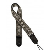 Gaucho gitaarband jacquard weave white on gold
