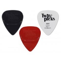 Twinpick duo pack, 2x dubbel plectrum, acoustic soft