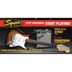 Squier Pack Strat SQ10G BSB