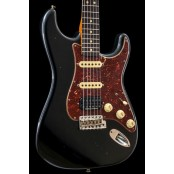 Fender Custom Shop 63 Strat HSS Journeyman Relic RW Black