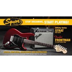 Squier Strat starterspack Affinity HSS Frontman 15G amp CAR