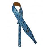 Gaucho gitaarband linnen blue & black