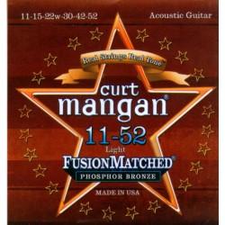 Curt Mangan snaren Phosphor Bronze 11-52