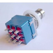 Tube Amp Doctor 3PDT Push switch, metal, solder lug terminals