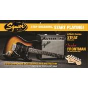 Squier Strat starterspack Affinity HSS Frontman 15G amp