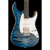 Mayones Aquila QM Quilted Maple 6 string, 2 Tone Blue Burst