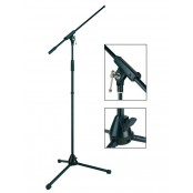 Boston Stage Pro Serie Microfoon Stand with Boom 165cm Black
