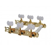 Boston machine heads for classic guitar 70mm, gold, butterfly buttons
