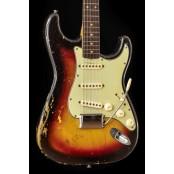 Fender Stratocaster 1963 w/ OHSC Sunburst (Original vintage)