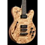 Stoney Creek Rochelle - Semi Hollow Mahogany, Mappa Burl Top, Lollar P90