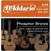 D'Addario snaren Phosphor Bronze Extra Light EJ15