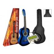 A.martinez gitaar klassiek 80PU blue sunburst met hoes en stemflluitje