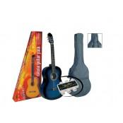 A.martinez gitaar klassiek 82PU 1/2 met hoes blauw