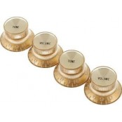 Gibson top hat knobs 4pack gold gold