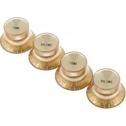 Gibson Top Hat Knobs w/ Gold Metal Insert (Gold)(4 pcs.)