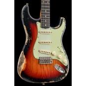 Fender Custom Shop 60s Strat Heavy Relic/Compound Radius 3-Color Sunburst