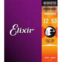 Elixir Nanoweb PBronze Light 12-53