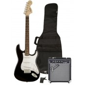 Squier Strat starterspack Affinity Frontman 10G amp BLK