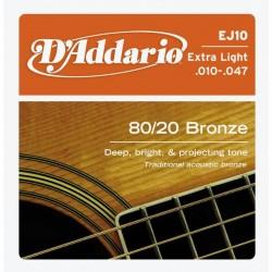 D'Addario snaren bronze EJ10