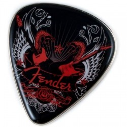 Fender magneet snake pit blk/red