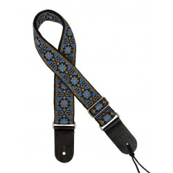 Gaucho gitaarband jacquard weave blue and gold