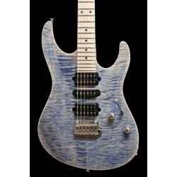 Suhr Modern Pro, Trans Blue Denim/Slate, Maple Fingerboard, Gotoh 510, HSH