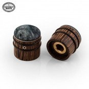Mayones Wooden Knob Buckeye Burl Black