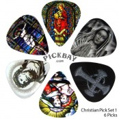 Christian Set van 6 plectrums