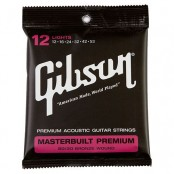 Gibson Masterbuilt Premium Acoutic Strings, 80/20 Bronze (Lights)