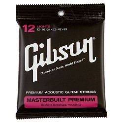 Gibson Masterbuilt Premium Acoutic Strings, 80/20 Bronze (Lights)