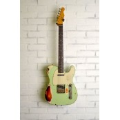 Nash T-63 Tele POP Green Over 3 Tone Sunburst w/ Original Specs