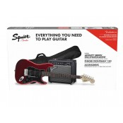 Squier Affinity HSS Stratocaster Pack with 15G Amplifier, LRL Fingerboard, Gigbag Candy Apple Red