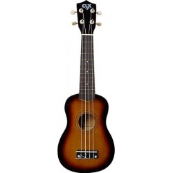 CLX Calista Ukulele Sopraan Brown Burst