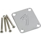 Fender Neck Plate F Chrome