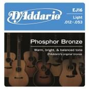 D'Addario snaren Phosphor Bronze EJ16-10pack