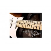 Fender built 2 inspire tin sign