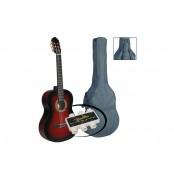 A.martinez gitaar klassiek 3/4 inclusief hoes en stemfluitje