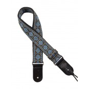 Gaucho gitaarband jacquard weave blue on gold