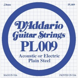 D'Addario losse snaar plain steel 009
