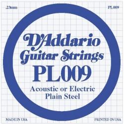 D'Addario losse snaar plain steel 009