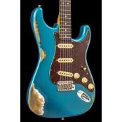 Fender Custom Shop 63 Strat Ocean Turquoise Heavy Relic Match Cap RW
