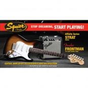 Squier Strat starterspack Affinity Frontman 10G amp BSB